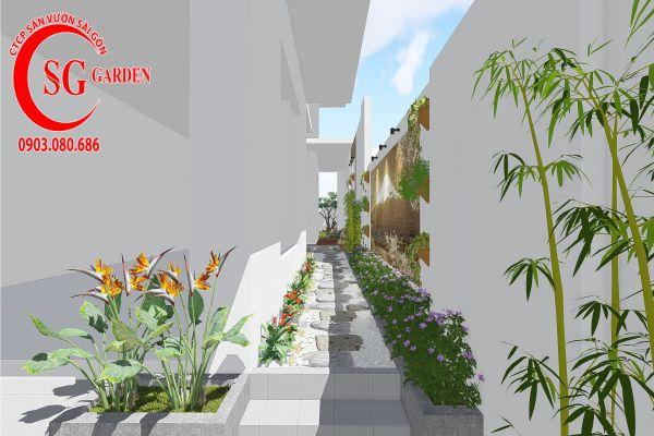 Thiết kế sân vườn anh Khanh Bình Tân 5