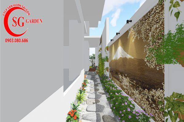 Thiết kế sân vườn anh Khanh Bình Tân 6