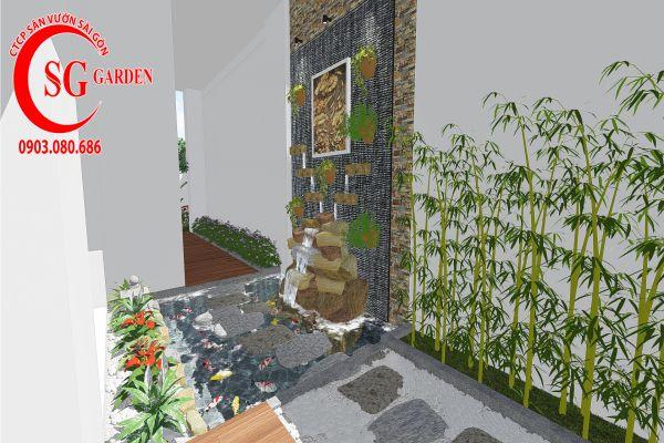 Thiết kế sân vườn anh Khanh Bình Tân 9