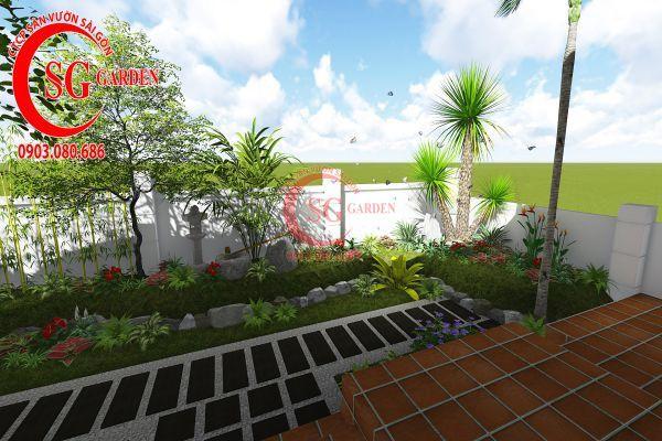 Thiết kế sân vườn biệt thự cô Tư Phú Mỹ Hưng 1