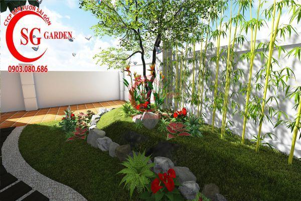 Thiết kế sân vườn biệt thự cô Tư Phú Mỹ Hưng 10