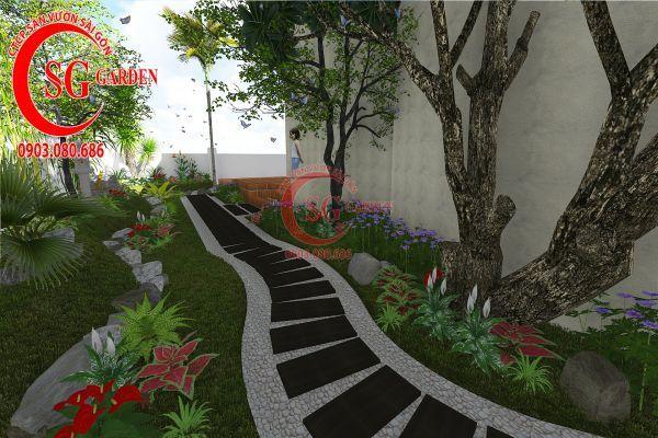 Thiết kế sân vườn biệt thự cô Tư Phú Mỹ Hưng 12
