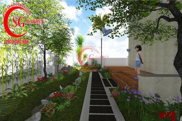 Thiết kế sân vườn biệt thự cô Tư Phú Mỹ Hưng 13