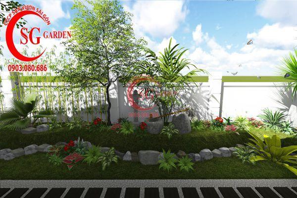 Thiết kế sân vườn biệt thự cô Tư Phú Mỹ Hưng 4