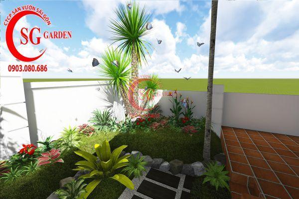 Thiết kế sân vườn biệt thự cô Tư Phú Mỹ Hưng 5