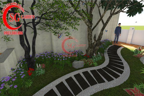 Thiết kế sân vườn biệt thự cô Tư Phú Mỹ Hưng 8