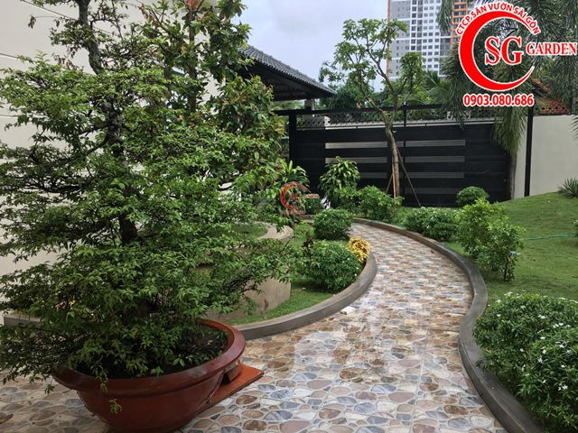 Hoàn Thành Sân Vườn Biệt Thự Anh Hùng Quận 2 12