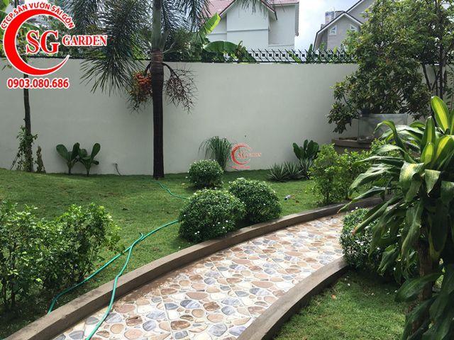 Hoàn Thành Sân Vườn Biệt Thự Anh Hùng Quận 2 3