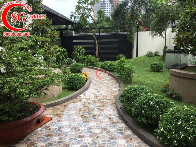 Hoàn Thành Sân Vườn Biệt Thự Anh Hùng Quận 2 6