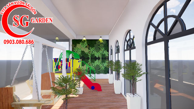 Sân Vườn Sân Thượng Chị Bích quận Phú Nhuận 10