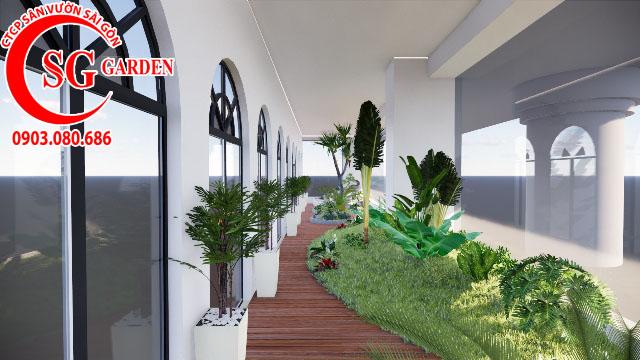 Sân Vườn Sân Thượng Chị Bích quận Phú Nhuận 2