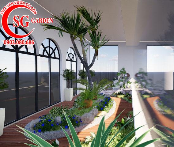 Sân Vườn Sân Thượng Chị Bích quận Phú Nhuận 3