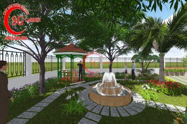 Thiết kế sân vườn nhà chú Đức Long An 12