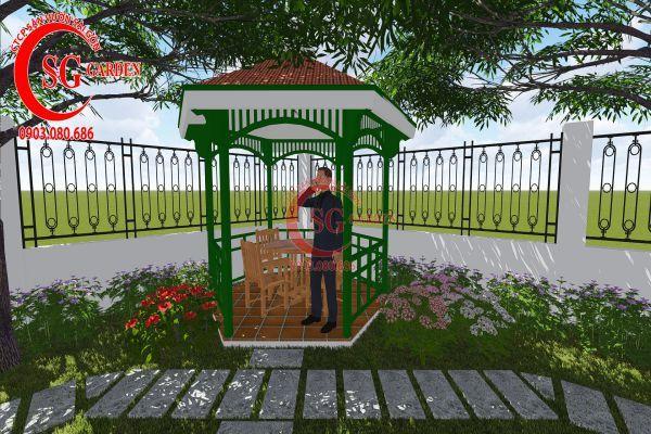Thiết kế sân vườn nhà chú Đức Long An 13