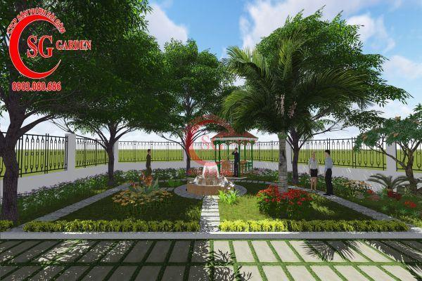 Thiết kế sân vườn nhà chú Đức Long An 6