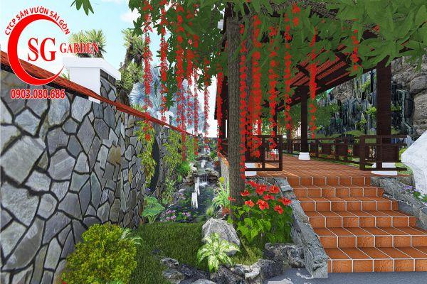 Sân vườn công ty Hồng Nghi Hóc Môn 7