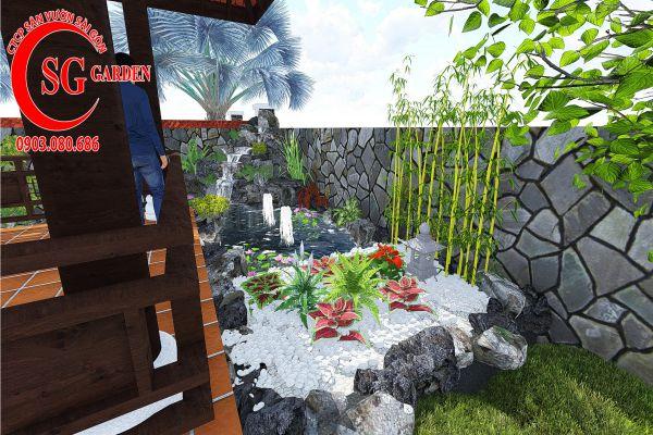 Sân vườn công ty Hồng Nghi Hóc Môn 11