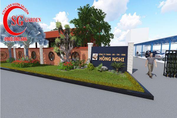 Sân vườn công ty Hồng Nghi Hóc Môn 1
