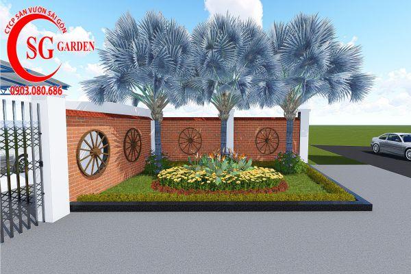 Sân vườn công ty Hồng Nghi Hóc Môn 2