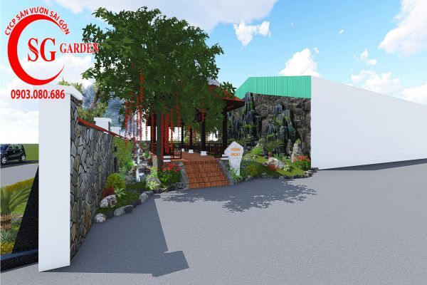Sân vườn công ty Hồng Nghi Hóc Môn 4