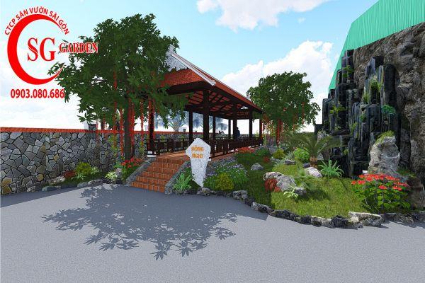 Sân vườn công ty Hồng Nghi Hóc Môn 5
