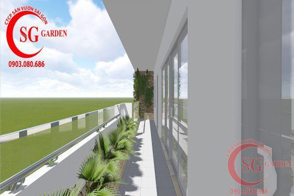 Thi công sân vườn nhà phố anh Phương quận 8 13