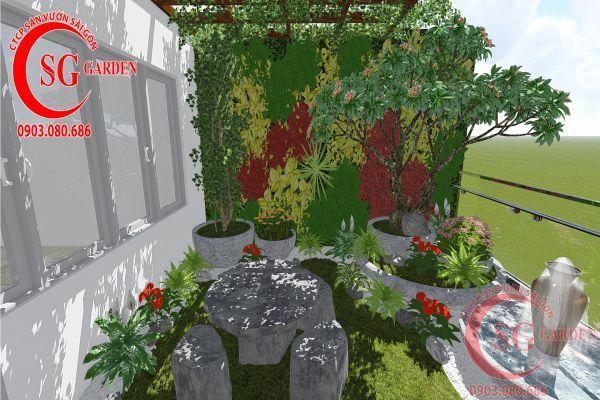Thiết kế vườn trên tường