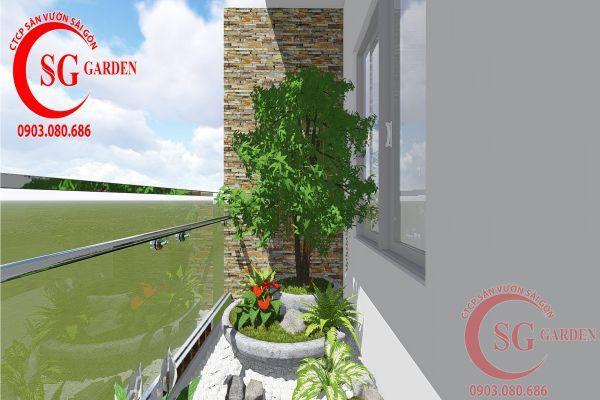Thi công sân vườn nhà phố anh Phương quận 8 21