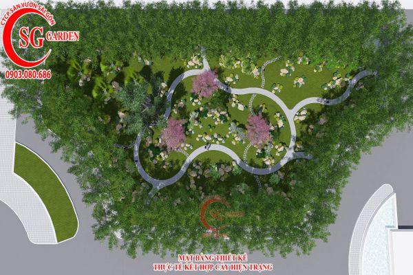 Bản thảo sân vườn tỉnh ủy Kiên Giang 1