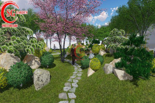 Thiết kế thi công sân vườn kiểu Nhật