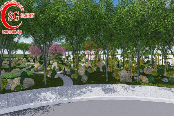 Bản thảo sân vườn tỉnh ủy Kiên Giang 15
