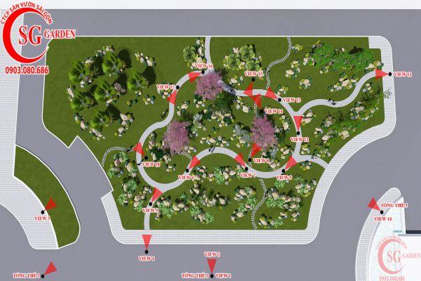 Bản thảo sân vườn tỉnh ủy Kiên Giang 2