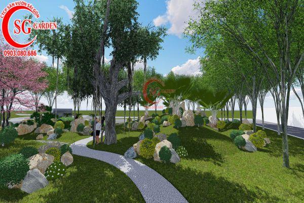 Bản thảo sân vườn tỉnh ủy Kiên Giang 22