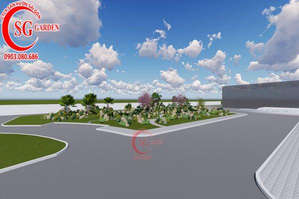 Bản thảo sân vườn tỉnh ủy Kiên Giang 3