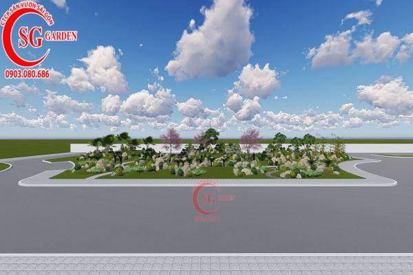 Bản thảo sân vườn tỉnh ủy Kiên Giang 4