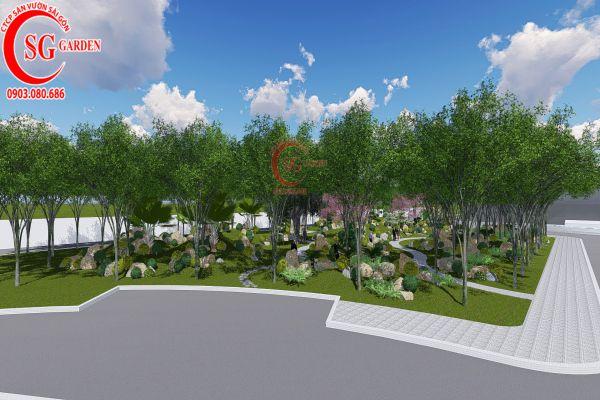 Bản thảo sân vườn tỉnh ủy Kiên Giang 8