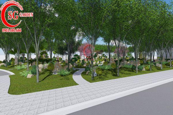 Bản thảo sân vườn tỉnh ủy Kiên Giang 9