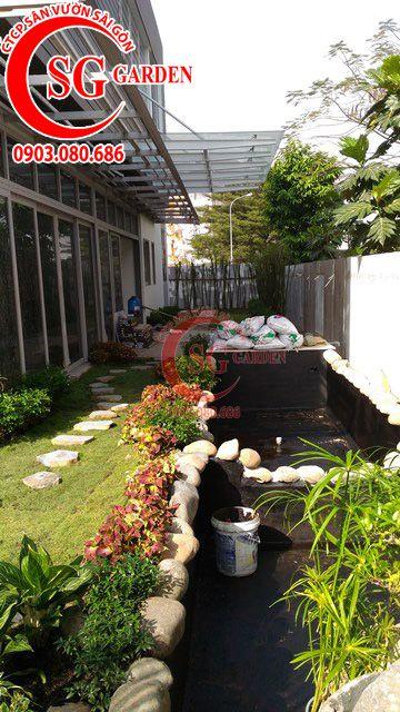 Công trình thi công sân vườn anh Sơn quận 9 14