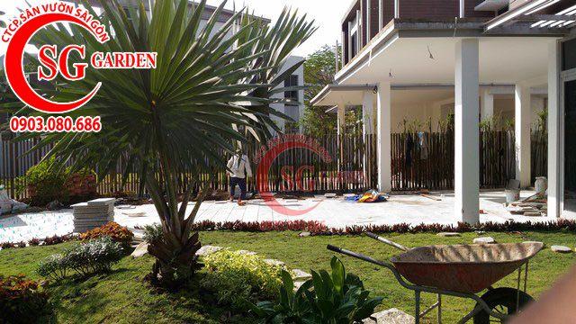 Công trình thi công sân vườn anh Sơn quận 9 16