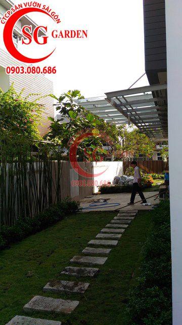 Công trình thi công sân vườn anh Sơn quận 9 20