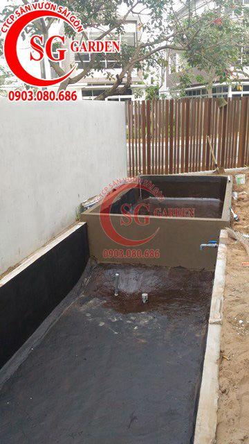 Công trình thi công sân vườn anh Sơn quận 9 3