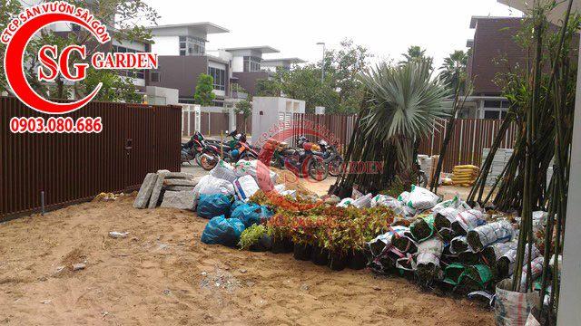 Công trình thi công sân vườn anh Sơn quận 9 7
