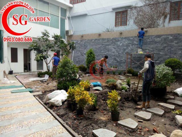 Thi công vườn nhà cô Vân Bình Thạnh 1