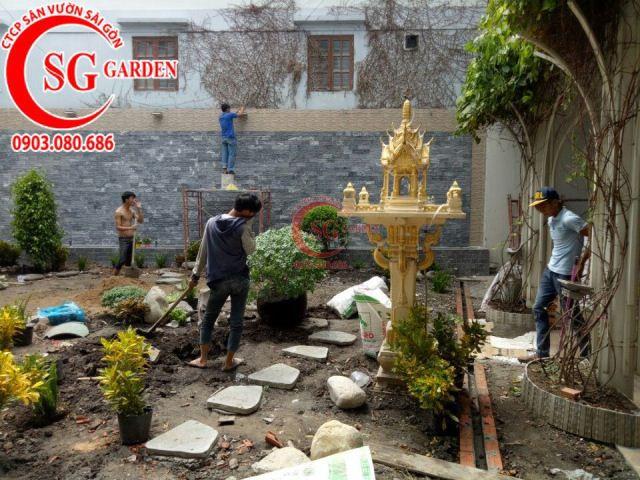Thi công vườn nhà cô Vân Bình Thạnh 3