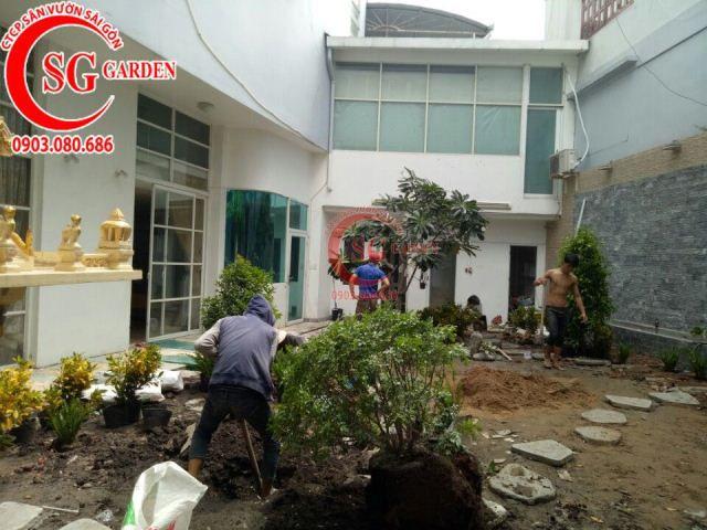 Thi công vườn nhà cô Vân Bình Thạnh 4