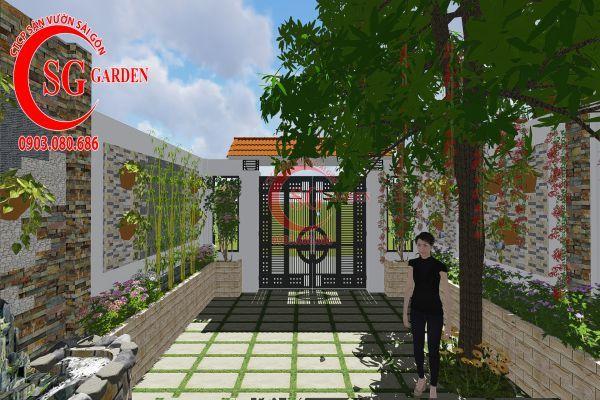 Công trình thi công sân vườn chị Nhung quận 8 13