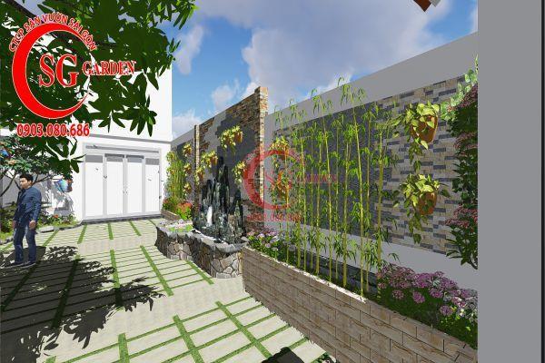 Công trình thi công sân vườn chị Nhung quận 8 3