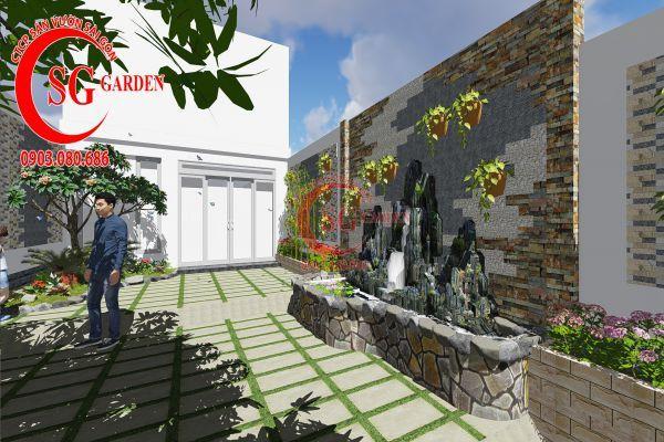 Công trình thi công sân vườn chị Nhung quận 8 5