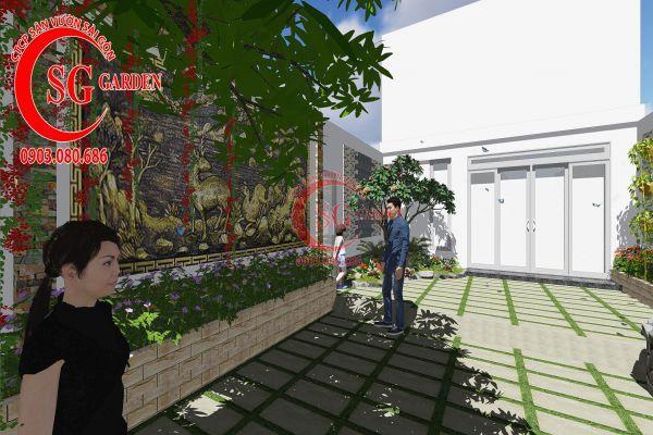 Công trình thi công sân vườn chị Nhung quận 8 6