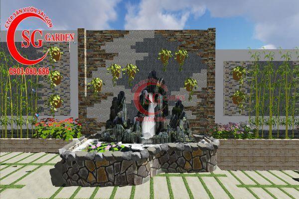 Công trình thi công sân vườn chị Nhung quận 8 7